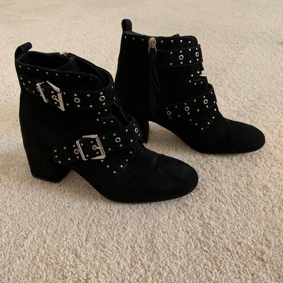 Rebecca Minkoff Shoes - Rebecca Minkoff black suede booties studded size 8